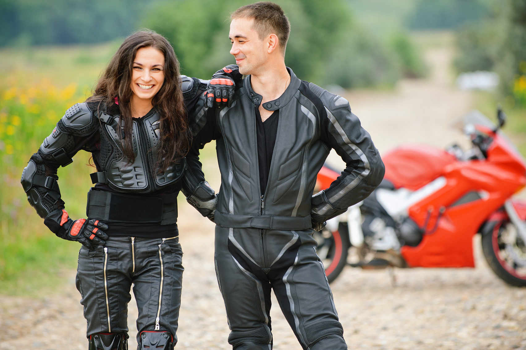 Motorrad Paar
